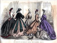 Godey's Lady's Book, November 1864.   In the Swan's Shadow