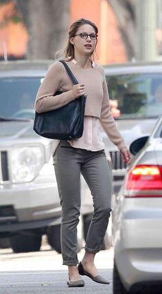 Melissa Benoist – Filming 'Super Girl' in LA