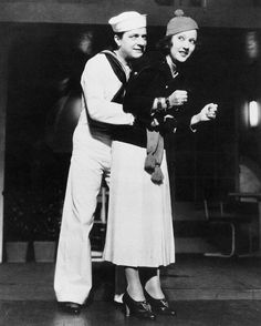 """William Gaxton and Ethel Merman in the original """"Anything Goes"""""""