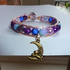 Bronze moon rabbit wrap bracelet £8.00