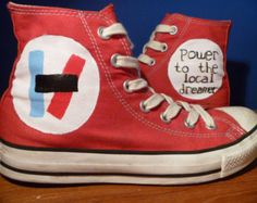 Hand Painted Twenty One Pilots Shoes $70