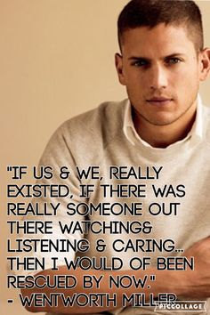 I loved the whole speech Wentworth Miller said but I can't put it all on one wallpaper so I took out my favorite quotes and made these wallpapers.