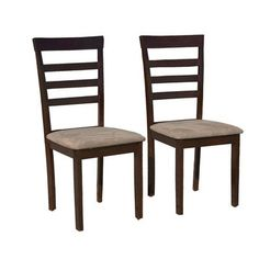 Target Marketing Systems Set of 2 Upholstered Havanna Dining Chairs Espresso * Find out more about the great product at the image link.Note:It is affiliate link to Amazon. #like4like