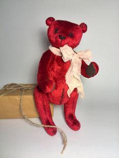 bear soft toys OOAK toys-stuffed animal artist by ShopHappyTeddy