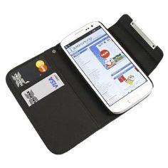Black Executive Wallet Case Cover for Samsung Galaxy S3