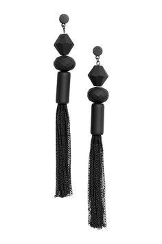Lange oorhangers - Zwart - DAMES | H&M NL 1
