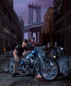 """""""Keino"""" - Limited Editions - All Artwork - Michael Knepper - Motorcycle Art 