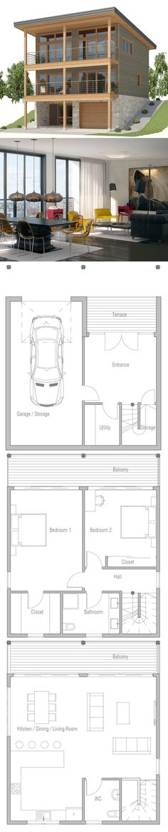 Shipping container home plan