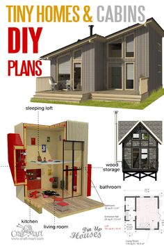 Our Garage Door Makeover – I'm so thrilled to share with you guys this DIY project. Tiny House Loft, Tiny House Trailer, Micro House, Small House Plans, Cabin Plans, Shed Plans, Loft Storage, Diy Hanging Shelves, Sleeping Loft