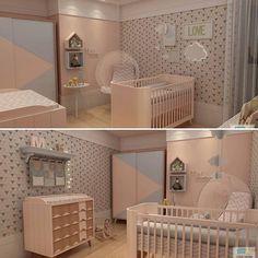 Encantada com esse quartinho tão lindoooo  Projeto  @studio.urbano Modelagem 3D por: @studio.3.d  #babyroom #baby #babygirl #babystyle #bebe #quarto #quartodebebe #menina #arquitetura #design #kids #decor #instababies @instagram @oquartinhodobebe  @decoreinteriores @decorcriative @revista_decorababy @ameisedesign @encontrandoideias