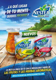 Nestea Exotic Mix on Behance Food Poster Design, Creative Poster Design, Ads Creative, Creative Posters, Creative Advertising, Advertising Design, Kids Graphic Design, Graphic Design Posters, Graphic Design Inspiration
