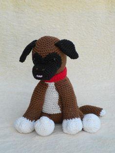Crochet patterns Boxer puppy Bouvier pup Haakpatroon by wolgeit Crochet Dolls, Knit Crochet, Amigurumi Patterns, Crochet Patterns, Boxer Puppies, Dog Pattern, Crochet Animals, Illustrations, Crochet Projects