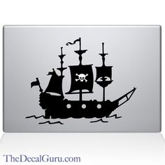The Decal Guru - Pirate Ship Macbook Decal, $11.99 (http://thedecalguru.com/shop-by-category/pirate-ship-macbook-decal/)