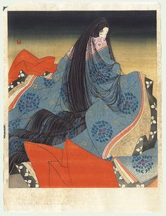 The Tale of Genji - Beauty, circa 1970s by Yoshio Okada (born 1934)
