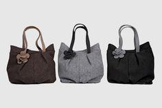 """Borsa Feltro """"Serena"""" disponibile in marrone, grigio, nero, blu, petrolio."""