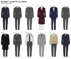"""ryln: """" What Harry Hart wore in the movie """"Kingsman"""" Navy pin stripe double breasted peaked lapel suit: When Harry met little Eggsy Grey pin stripe double breasted peaked lapel suit: When Harry. Kingsman Shop, Kingsman Suits, Kingsman Harry, Eggsy Kingsman, The Kingsman, Velvet Smoking Jacket, Kingsman The Secret Service, Glen Plaid, Gentleman Style"""