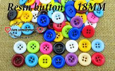 200PCS mixed resin buttons 18mm shirt  sewing button for clothing crafts R-114 $5,22