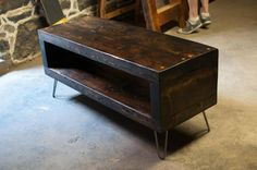 Salvaged floor beam coffee table. $325.00, via Etsy.
