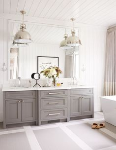 Idea, tactics, as well as overview with regard to acquiring the most ideal outcome as well as making the max usage of Diy Bathroom Decor Ideas Grey Bathroom Cabinets, White Bathroom Decor, Gray And White Bathroom, Bathroom Design Small, Bathroom Renos, Bathroom Renovations, Bathroom Interior, Modern Bathroom, Neutral Bathroom