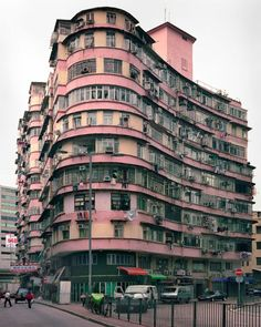 layer cake building. One of the sadly disappearing corner houses of Hong Kong