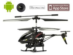 Loveseason S215 Helicopter with Camera for iPhone, iPad and Android (Black) -Built in video camera by Loveseason. $48.99. Loveseason Helicopter with Camera for iPhone, iPad and Android (Black) -Built in video camera micro-helicopter for Apple iPhone, iPad and Android.  The micro super combo combines the latest transmitter technology with easily downloaded control App from the App store. Record video from your helicopter using your microSD card.(512MB Memory Card for free gift!!)