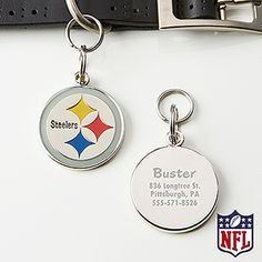 Show your love for your pet with the Pittsburgh Steelers NFL Personalized Pet tag. Find the best personalized pet gifts at PersonalizationMall.com