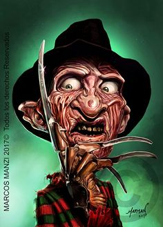 Caricatura de Freddy Krueger  (digital painting)