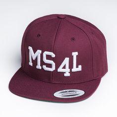 "MS4L Snapback Cap im ""Maroon"" Style"