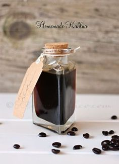 Homemade Kahlua Great to make for yourself at home, but also a fantastic Christmas gift!