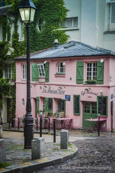"travelwithpratibha: "" La Maison Rose cafe and restaurant on Rue de l'Abreuvoir in the village of Montmartre, Paris, France "" Montmartre is so lovely Oh The Places You'll Go, Places To Travel, Travel Destinations, Paris France, Montmartre Paris, Paris Paris, I Love Paris, Pink Houses, Ansel Adams"