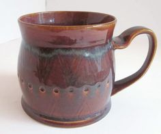 Unique Coffee Mug, Large Coffee Mug, Large Mug, Western Coffee Mug, Handmade Ceramic Mug, Purple Mug, Purple Coffee Mug, Large Purple Mug by ACoupleofCranes on Etsy