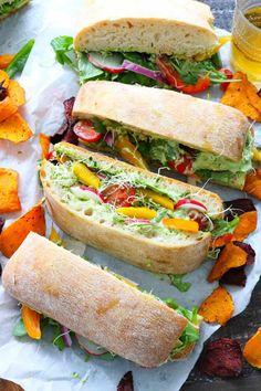 Vegan Sandwich Recipes, Veggie Sandwich, Vegetarian Recipes, Cooking Recipes, Healthy Recipes, Healthy Food, Homemade Sandwich, Sandwich Ingredients, Vegan Dinner Recipes