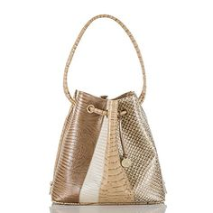 2259518f9687 Brahmin Sahara Collection Trina Leather Drawstring Tote. Designer Shoulder  BagsMichael Kors ...