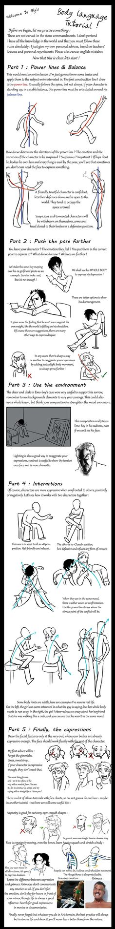 Body Language Tutorial by PolymorphicGirl.deviantart.com