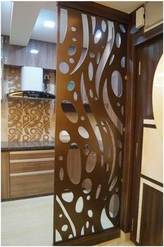 Glass Partition Designs, Living Room Partition Design, Pooja Room Door Design, Wall Decor Design, Ceiling Design, Kitchen Room Design, Home Room Design, Home Interior Design, Living Room Designs
