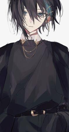 Dark Anime Guys, Cool Anime Guys, Handsome Anime Guys, Cute Anime Boy, Anime Oc, Chica Anime Manga, Cute Anime Character, Character Art, Image Manga