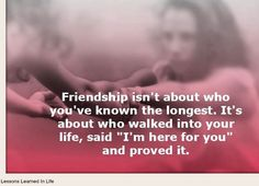 Friendship quote via www.Facebook.com/LessonsLearnedInLife