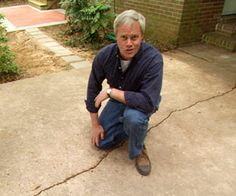 Repair and resurface a concrete driveway in a weekend or less. Better Homes and Gardens contributing editor Danny Lipford shows you how. Repair Concrete Driveway, Concrete Driveways, Walkways, Stained Concrete Driveway, Brick Repair, Diy Driveway, Driveway Paving, Concrete Walkway, Driveway Landscaping