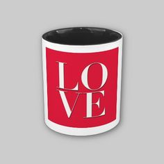 Love Logo Mugs by Poptopia