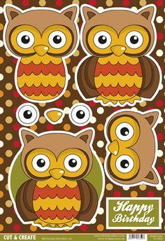 Buzzcraft Woodland Creatures Cut & Create - Oli Owl