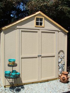 Shed Shed Organization, Landscaping, Outdoor Structures, Diy, Furniture, Home Decor, Decoration Home, Bricolage, Room Decor