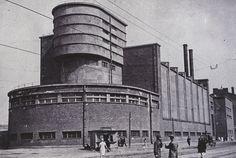 Erich Mendelsohn red banner factory Leningrad first half of 1930s | Flickr: Intercambio de fotos