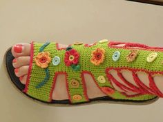 Hermosos zapatos tejidos a crochet - Ixtapaluca