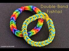 How-to: Make a Double Band Fishtail Bracelet #rainbow #loom