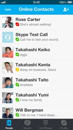 """Say """"hello"""" to friends and family with an instant message, voice or video call on Skype for free. There's so much you can do, right from the palm of your hand."""