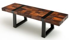 Modern Rustic Bench Reclaimed Wood