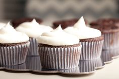 Recipe including course(s): Dessert; and ingredients: frozen whipped topping, milk, pudding mix, vanilla extract, whipping cream Best Icing Recipe, Frosting Recipes, Cupcake Recipes, Baking Recipes, Cupcake Cakes, Cupcakes, Top Dessert Recipe, Dessert Recipes, Vanilla Whipped Cream