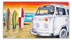 Original Handpainted Bespoke Canvas Art from The Kludoman Surf Co.