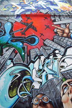 Permitted graffiti in Brighton, UK