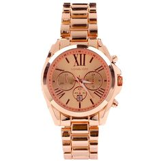 My new Michael Kors Acetate Bradshaw Chronograph Rose Golden Watches.unbelievable cheap sale o.O you'll gonna love this site:D